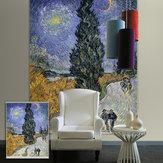 Pag estores janela cortina decoração da parede impressão abstrato rolo de pintura de fundo cego
