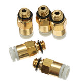 Creality 3D® 5PCS 3D Printer M6 Thread Nozzle Brass Pneumatic Connector Quick Joint For Remote Extruder