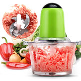 200W Electric Meat Grinder Food Processor Kitchen Food Chopper Blender Slicer 2L