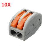 Excellway® ET20 10шт 2 Pins Пружина рычага терминальный блок Электрический кабель провод Разъем
