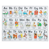 Alphabet Wall Paper Sticker Children Cognitive Animals Early Education Fun Learning Home House Decoration