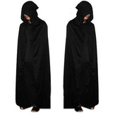 Halloween adulte cosplay parti vêtements longs noir mort manteau à capuchon gros cosplay manteau diable manteau