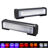 2Pcs 40W Front Grille COB LED Emergency Light Flashing Warning Strobe Lamp 12-24V