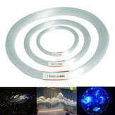 100m PMMA Clear Plastik Fiber Optic Cable End Grow Led Light Dekorasi 0.75 / 1 / 1.5mm