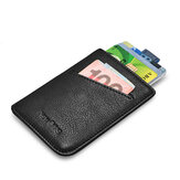 NewBring Slim Leather Wallet Men Credit Card & ID Holders Compact Mini Purse Cash Women Card Holder Sleeve Purse