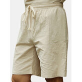 Large Size S-4XL Chinese Wind Cotton Linen Knee-length Short