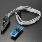 SOP8 SOIC8 Test Clip Module With Cable For EEPROM 93CXX / 25CXX / 24CXX In Circuit Programming