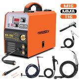 Handskit 4 in1 MIG-250 MMA TIG сварочный аппарат 220 В ЕС электросварщик точечной сварки портативный автомат для сварки