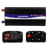 2000W Peak 12V/24V/48V to 220V Pure Sine Wave Power Inverter Digital Display Home Converter