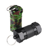 Mini Holder Box Keyring Alloy Waterproof Sealed Pocket Container Keychain Case Bottle Stash Holder