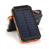 Bakeey 20000mAh Dual USB DIY Solar Power Bank Case Kit med LED Light Compass