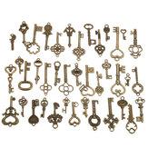 40Pcs Antique Vtg Old Look Encarnado Esqueleto Keys Lote Pingente Fantasia Coração