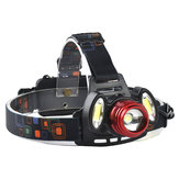 XANES 2305 1200 Lumens T6 + 2xCOB  Bicycle Headlamp Zoom Mekanis Adjustable Head Light