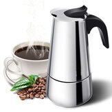 9 Tasse Espresso Percolator Kaffeekocher Moka Latte Pot Herd