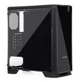 Desktopcomputer Gaming Case ATX M-ATX ITX USB 3.0-poorten Gehard glas Windows met 8 stks 120 mm ventilatoren Locatie (alleen case)