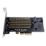 Orico PDM2 M.2 NVME to PCI-E 3.0 Gen3 X4 Expansion Card for PCI-E NVME SATA Protocol M.2 SSD
