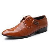 Men Soft Leather Business Casual Oxfords