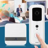 Smart WiFi HD 1080P Campainha de vídeo IR Visual Camera Intercom 166 ° Wide Angle Home Security Kit APP Control
