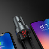 Bakeey 5A PD Type-C USB Car Charger LED Display Fast Charging For iPhone XS 11Pro Huawei P30 P40 Pro Mi10 Note 9S Oneplus 8Pro