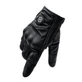 WUPP мотоцикл Full Finger Riding Перчатки Сенсорный экран Ветрозащитная кожа Гонки по бездорожью На открытом воздухе Sport Black