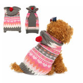 Pet Dog Cat Snowflake Sweter Winter Warm Coat Jacket Odzież Vest Costume Jacket Hat Odzież Bluza z kapturem