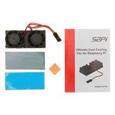 Reroflag Nespi Ultimate Cooling Fan Kit Dual Fans + Heatsinks For Raspberry Pi 3/2/B+