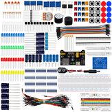 مجموعة بدء المكونات الأساسية للإلكترونيات AOQDQDQD® ث / اللوح Jumper أسلاك اللون ليد مقاومات مكثف الجرس لاردوينو