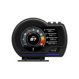 Affichage tête haute OBD2 + GPS Couleur LED Kits de compteur de vitesse d'avertissement de vitesse HUD de navigation