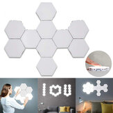10PCS DIY Quantum LED Lâmpadas hexagonais Touch Magnetic Sensitive Wall Night Light AC110-240V