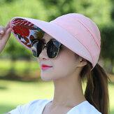Kadın Outdoor Katlanabilir UV Koruma Visor Şapka