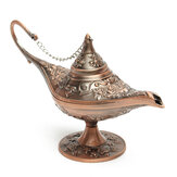 Rare Legend Brass Desktop Kettle Color Aladdin Magia Genie Light Wishing lampada Pot Decorazioni da collezione Home House