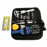 371pcs Watch Repair Tool Kit Zegarmistrz Opener Remover Spring Pin Bar With Case