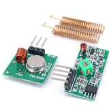 3pcs 433MHz RF Wireless Receiver Module Transmitter Kit + 2PCS RF Spring Antenna OPEN-SMART for Arduino - produits qui fonctionnent avec les officiels pour les cartes Arduino