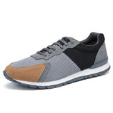 Men Colorblock Mesh Splicing Breathable Sports Casual Forrest Sneakers