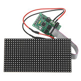 16X32 Colorful Multifunctionele klok Muziek Spectrum LED-verlichting Display Gemonteerd Dot Matrix Board