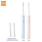 2 шт.Xiaomi Mijia T100 Sonic электрическая зубная щетка Mi Smart Tooth Щетка Colorful USB аккумуляторная IPX7 Водонепроницаемы + 2 сменные головки
