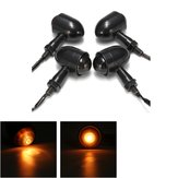 4x Mini Turn Light Blinker lampadine e staffa per Harley Cafe Racer Bobber Chopper