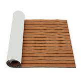 2700x900mm Self Adhesive Marine Boat Synthetic EVA Foam Floor Yacht Teak Deck Sheet Dark Brown