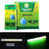 50Pcs/Box 7.5x75mm Luminous Fishing Float Light Tube Green Fluorescent Glow Stick For Night Fishing