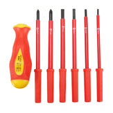 6 In 1 Insulated Electrical Screwdriver Set 1000V High Voltage Resistant Repair Tools Kit