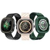 DOOGEE Ares 1.32 inch 360 * 360px 386 PPI Creatief scherm Dynamische hartslag Bloedzuurstofmonitor 24 sportmodi 300mAh Grote batterijcapaciteit 3ATM Waterdicht Smart Watch