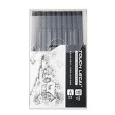 Touchlecai 10pc / set Micron Pen Set Brush Waterproof Black Ink Sketch Pen Drawing Art Markers Stationery For Students