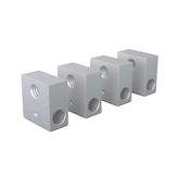 Anet® 4 Adet 20 * 20 * 10mm Φ6 M6 Prusa i3 3D Yazıcı için Alüminyum Isıtma Bloğu Ekstruder Sıcak End