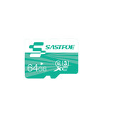 SASTFOE Green Edition 64GB U3 Class 10 TF Micro Memory Card for Digital Camera MP3 TV Box Smartphone