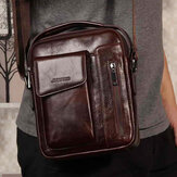 Men Vintage Genuine Leather Crossbody Bag Shoulder Bag Business Bag