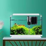 Geometri Cam Balık Tankı, Harici Filtre Seti Desteği LED Ev Ofis için Düşük Gürültülü Havalandırma Şelalesi Tasarım