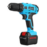DROW 12V/21V Electric Cordless Hand Drill Kit 15+1/18+1 Torque Household Electric Screwdriver Driver Tool 1/2 Li-Ion Battery Rechargeable