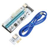 PCI-E 1x 16x Genişletici Yükseltici Kart 6 PIN Adaptörü Bitcoin BTC Madencilik Için USB 3.0 Genişleme Adaptörü