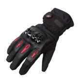 Tough Screenn gants de course de moto de protection de doigt complet imperméable à l'eau Pro-Biker MTV-08