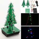 Geekcreit® DIY Christmas Tree LED Flash Kit Elektroniczny zestaw do nauki 3D